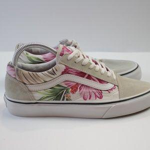 Vans Floral Hawaiian Sneakers Skate shoes 8.5
